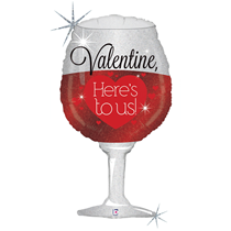 "Valentine Grabo 34"" Sparkling Wine Foil Balloon"