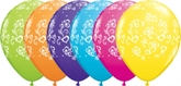 """Assorted Colour Printed Hearts 11"""" Latex Balloons 25pk"""