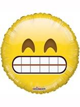 "Big Teeth Smile Emoji 18"" Foil Balloon"