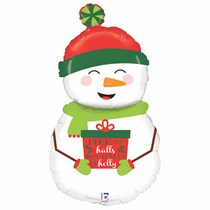 "Christmas Snowman 40"" Foil Balloon"