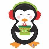 """Christmas Penguin 34"""" Foil Balloon"""