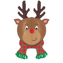 "Christmas Multi Sided Reindeer 35"" Foil Balloon"