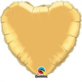 """Metallic Gold 18"""" Heart Foil Balloon Pkgd"""