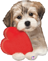 """Valentine's Puppy Love 29"""" Foil Balloon"""