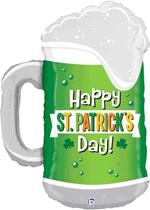 "St Patrick's Day Beer Mug 34"" Betallic Foil Balloon"