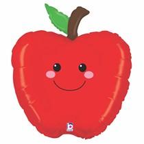 "Smiling Apple 26"" Foil Balloon"