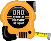 """Father's Day Tape Measure Foil 30"""" SuperShape"""