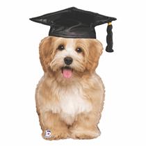 "Graduation Puppy 32"" Foil Balloon"