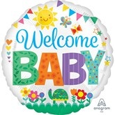 """Welcome Baby Cute Icons 18"""" Foil Balloon"""