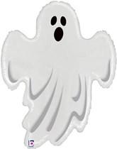 "Halloween 31"" Clear Ghost Foil Balloon"