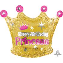 "Birthday Princess 20"" Crown Foil Balloon"