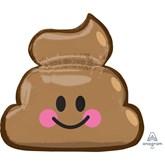 """Poop Emoji 25"""" SuperShape Foil Balloon"""