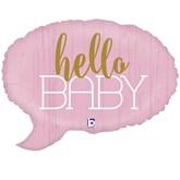 "Pink Hello Baby 24"" Foil Balloon"