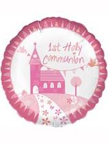 """Pink Communion Church 18"""" Foil Balloon"""