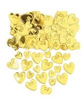 Gold Love Hearts Embossed Metallic Confetti 14g