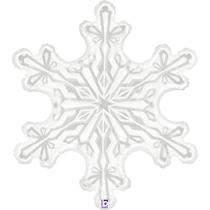 "Christmas Snowflake Clear Film 38"" Foil Balloon"