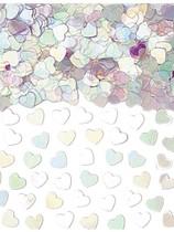 Iridescent Sparkle Hearts Metallic Confetti 14g
