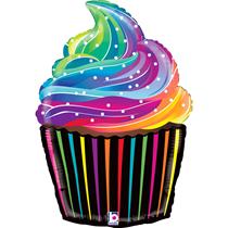 "Rainbow Cupcake 27"" Foil Balloon"