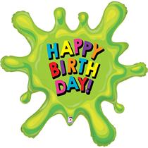 "Slime Splat Happy Birthday 39"" Foil Balloon"
