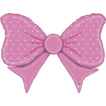 """Pink Bow 43"""" Large Shape Foil Balloon"""