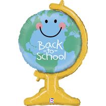 "Back To School Globe 33"" Foil Balloon"