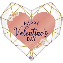 "Valentine Grabo 29"" Geo Foil Balloon"