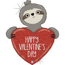 "Valentine Grabo 35"" Sloth Foil Balloon"