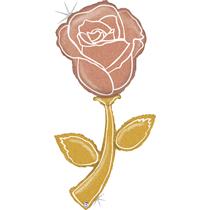 Glitter Rose Gold 5ft Holographic Rose Foil Balloon