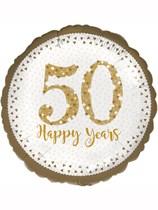 "Sparkling 50th Golden Anniversary 18"" Foil Balloon"