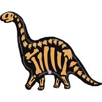 """Brontosaurus Dinosaur Skeleton 50"""" Foil Balloon"""