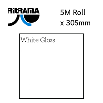 Ritrama White Gloss Vinyl 305mm x 5M
