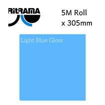 Ritrama Light Blue Gloss Vinyl 305mm x 5M