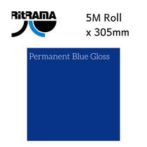 Ritrama Permanent Blue Gloss Vinyl 305mm x 5M