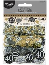 Gold Celebration 40th Birthday 3 Variety Confetti