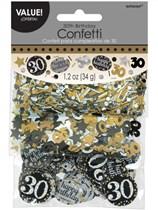 Gold Celebration 30th Birthday 3 Variety Confetti