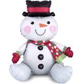 Christmas Sitting Snowman Air Multi Fill Foil Balloon