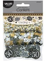 Gold Celebration 50th Birthday 3 Variety Confetti