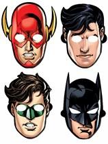 Justice League Party Masks 8pk