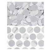 Silver Foil Circle 20mm Confetti 63grams