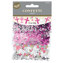 First Communion Pink Foil Confetti (3 Types) 34g