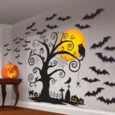 Halloween Family Frendly Silhouette Scene Setter