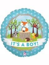 "Woodland Critters It's a Boy 18"" Foil Balloon"