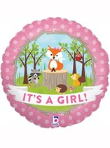 """Woodland Critters It's a Girl 18"""" Foil Balloon"""