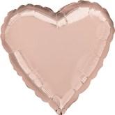 "Rose Gold 18"" Heart Shaped Foil Balloon"