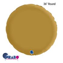 """Grabo Satin Gold 36"""" Round Foil Balloon"""