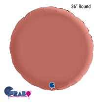 "Grabo Satin Rose Gold 36"" Round Foil Balloon"