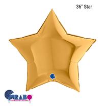 "Grabo Gold Star 36"" Foil Balloon"
