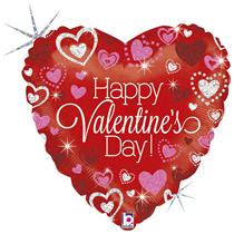 "Valentine Grabo 18"" Sparkling Foil Balloon"