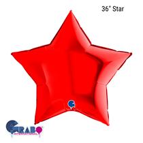"""Grabo Red Star 36"""" Foil Balloon"""