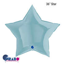 "Grabo Pastel Blue Star 36"" Foil Balloon"